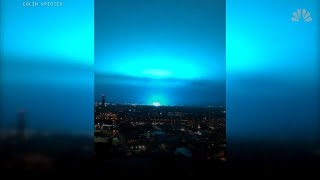 NYC bathed in blue light from 'power plant explosion' weeks after NIAC report - Hmmm...