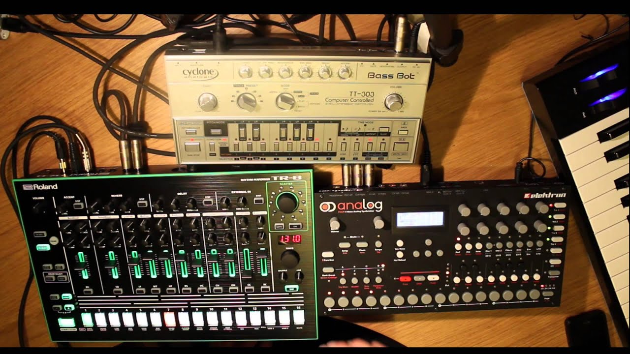 roland aira tr 8 elektron analog four tt 303 out of control youtube. Black Bedroom Furniture Sets. Home Design Ideas