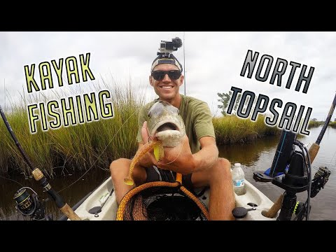 Kayak Fishing North Topsail For Shallow Water Reds!/How To Get Redfish To Swim Into Your Kayak