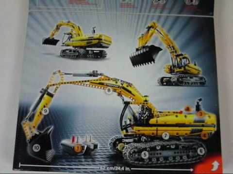 Lego 8043 Motorized Excavator Set Youtube
