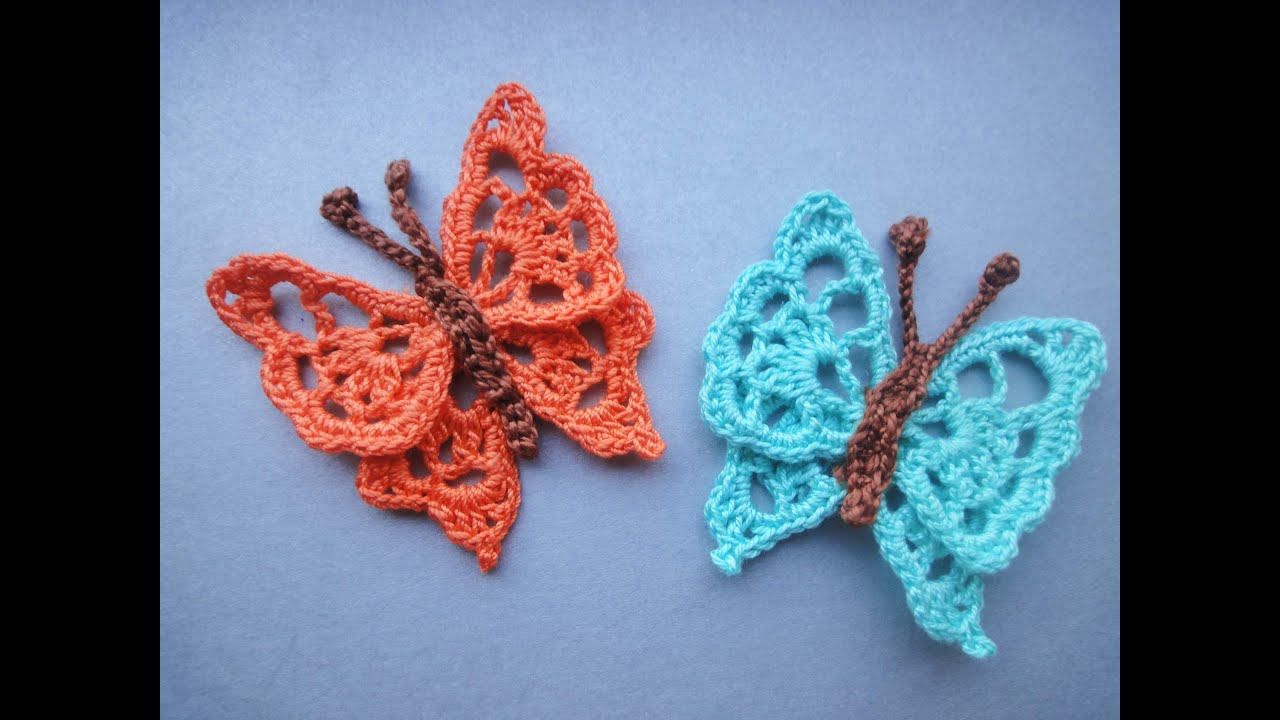 БАБОЧКА Butterfly Crochet Doovi