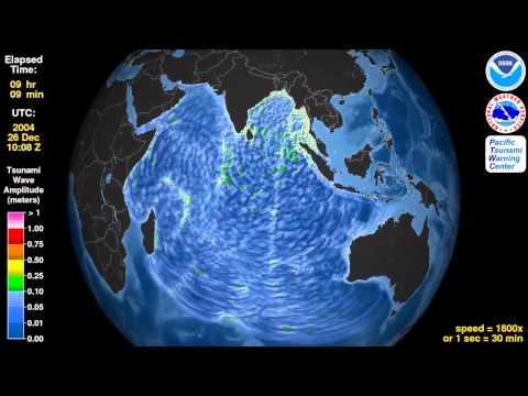Japan Ocean Tsunami Simulation 2014