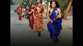 Women run a marathon in sarees to spread breast cancer awareness