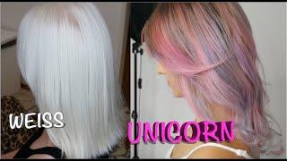 WEISSE HAARE SO HELL WIE NOCH NIE! und UNICORN HAIR vlog