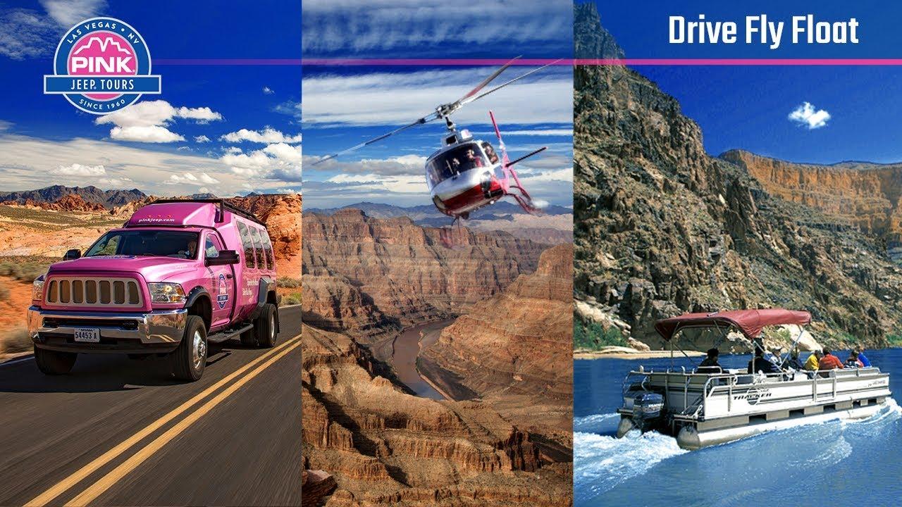 Grand Canyon Drive Fly Float Tour   Las Vegas | Pink Jeep Tours