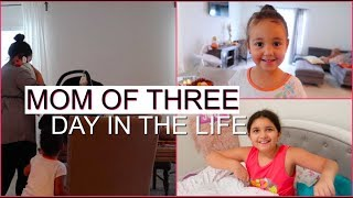 FIRST DAY ALONE WITH A NEWBORN & TWO KIDS | DAY IN THE LIFE OF A MOM OF THREE