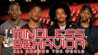 "Mindless Behavior watches ""All Around The World"" for the first time!"