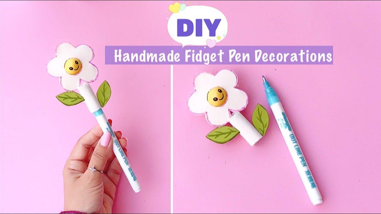 DIY Fidget Pen Decorations Idea | Homemade Pen Decorations | Fidget Toys #Shorts