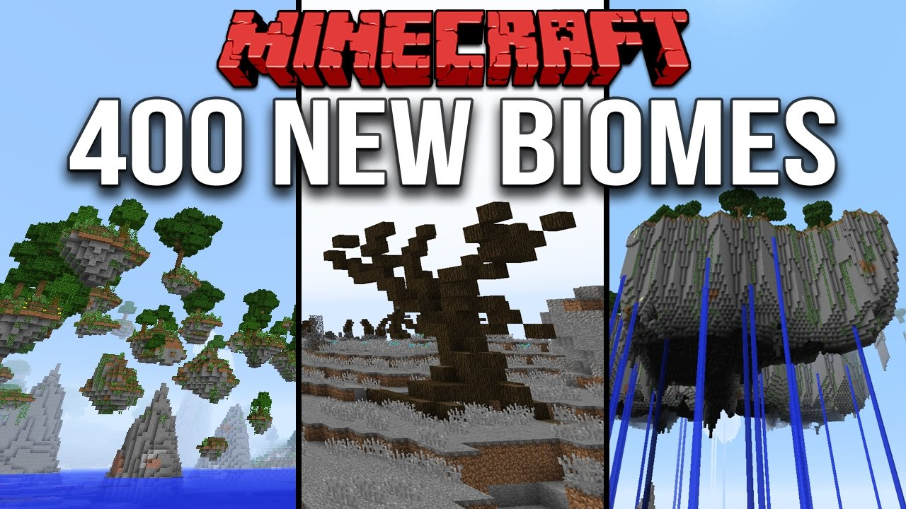 Minecraft 1 10 Over 400 New Biomes & 1700 Custom Structures (Terrain  Control Mod: Biome Bundle)