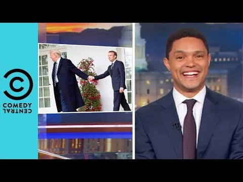 Donald Trump Brushes 'Dandruff' Off Macron's Shoulder | The Daily Show With Trevor Noah