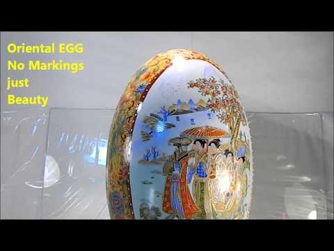 Huge Oriental Porcelain Egg