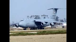 C-5 M Super Galaxy departing from JFTB in Los Alamitos California on March 25, 2013.
