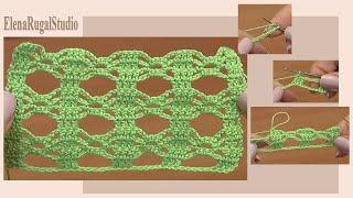 Вязание крючком. Простой и красивый узор. Урок 1