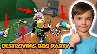 distruggendo BBQ PARTY in ROBLOX MURDER MYSTERY 2!
