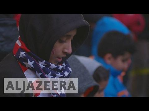 New York: Yemenis protest against Trump's discriminatory travel ban