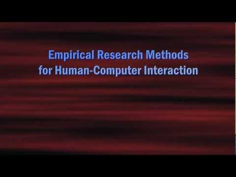 C19: Empirical Research Methods for Human-Computer Interaction