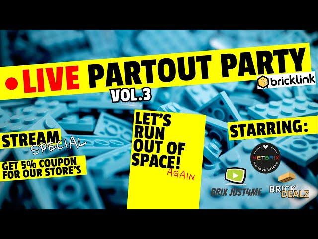 🔴 LIVE Partout Party| VOL. 3 | Mit dem BrickLink-Trio