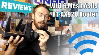 WiFi 6 Mesh ASUS RT-AX92U Router Hardware Review