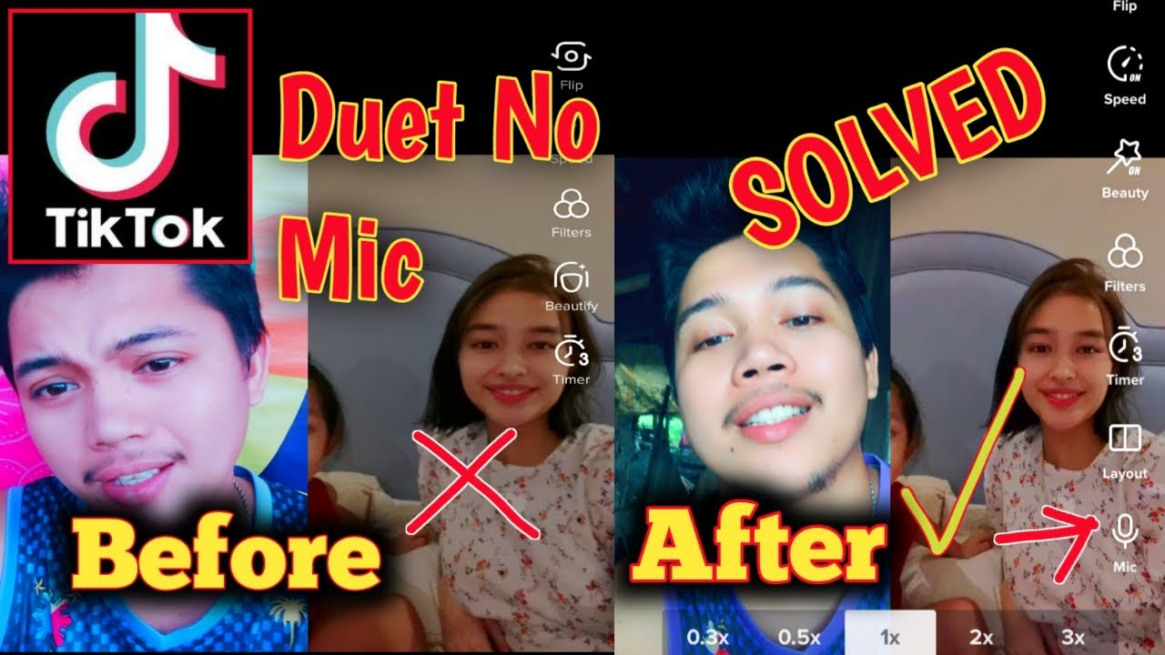No Audio In Duet Tiktok Mic Missing In Tiktok Duet Solved Tagalog Youtube