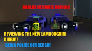 ROBLOX - Ultimate Driving Westover Police Officers / Diablo update /BIG ANNOUNCMENT!