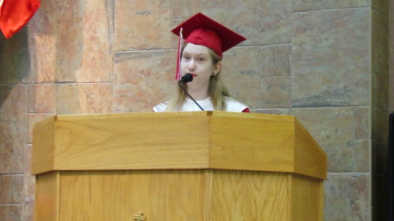 Camryn Brewer's Graduation Speech - Good Shepherd Ucc Graduation Sunday 2016