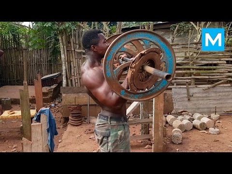 Just Hard Work - Real African Gym | Muscle Madness