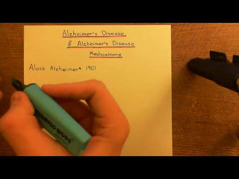 Alzheimer's Disease and Alzheimer's Disease Medications Part 1