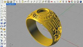 3D Graduation Ring Part 1, Rhino 4.0