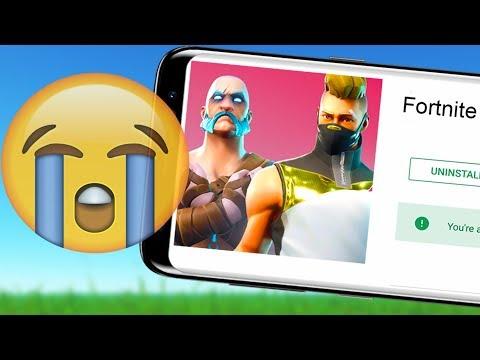 SAD NEWS for Fortnite Mobile on Android!