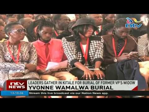 Leaders gather in Kitale for burial of Yvonne Wamalwa