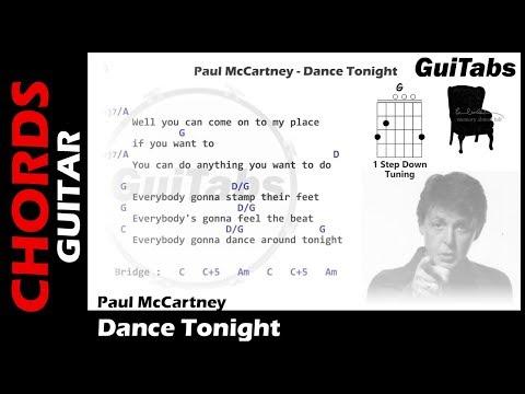 Paul McCartney - Dance Tonight ( Lyrics and GuiTar Chords ) 🎸