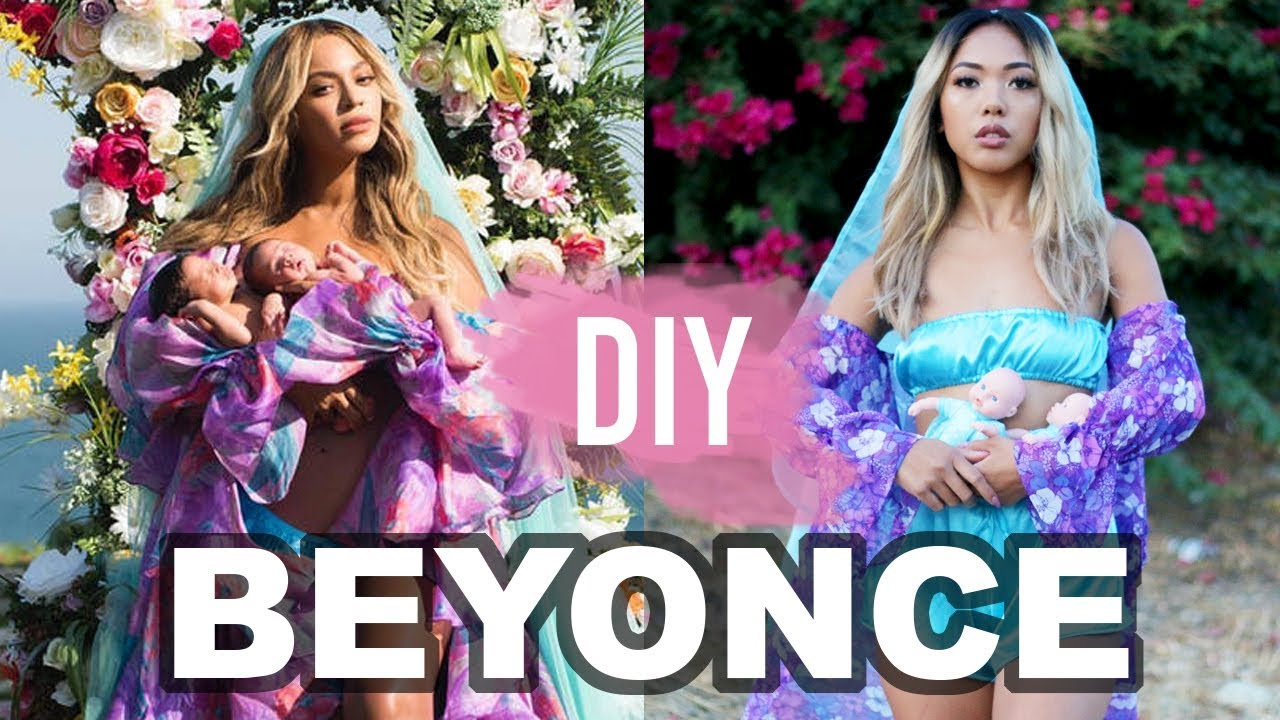 DIY BEYONCE TWIN REVEAL HALLOWEEN COSTUME! | CELEBRITY INSPIRED TUTORIALS | Nava Rose  sc 1 st  YouTube : good twin halloween costumes  - Germanpascual.Com