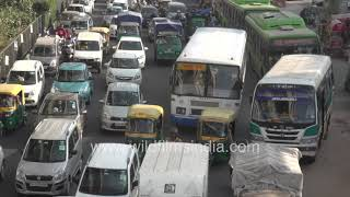 Traffic snarls on the Ring Road in Delhi