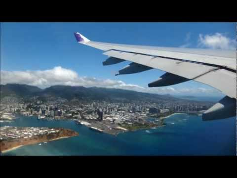 Hawaiian Airlines A330 Take-Off from Honolulu