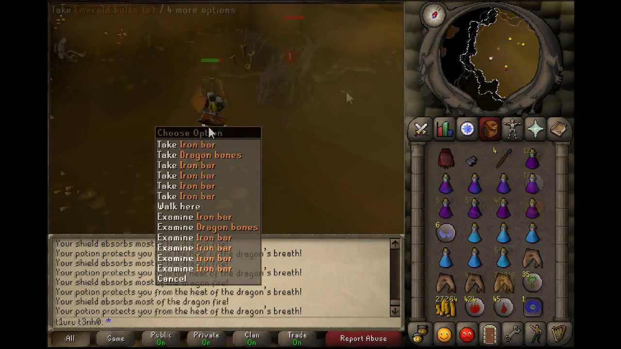 iron dragon drops osrs