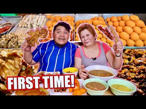 STREET FOOD MUKBANG with my MAMA (NAKAKALOKA REACTION NIYA!!)