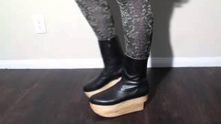Vivienne Westwood Gold Label Rocking Horse Boots In Black Kid Leather