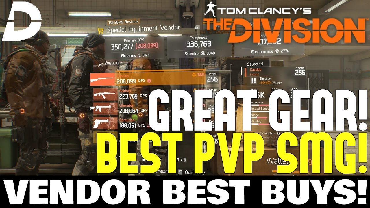The Division: BEST SMG BLUEPRINT & MORE! Vendor Reset BEST BUYS!