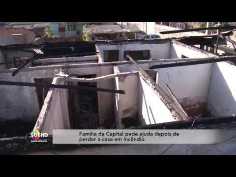 Família da Capital pede ajuda depois de perder a casa em incêndio