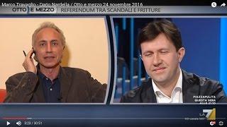 Marco Travaglio - Dario Nardella / Otto e mezzo 24 novembre 2016