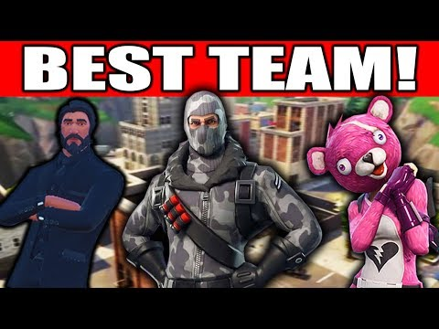 THIS TEAM CAN\'T LOSE!!!! (Fortnite Battle Royale Squads Gameplay)