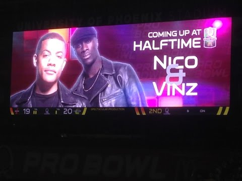 ProBowl 2015 Halftime Show - Nico & Vinz