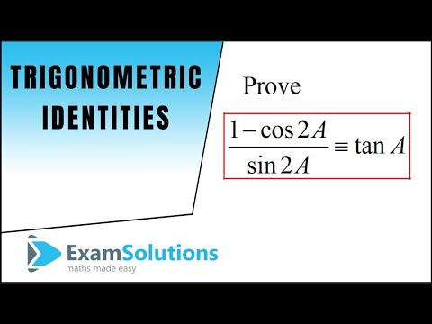 Trigonometry Identities - Double Angles (1) : ExamSolutions