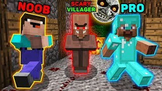Minecraft NOOB vs PRO : How To SURVIVE in SCARY VILLAGE? IN MINECRAFT! ANIMATION 3:00AM