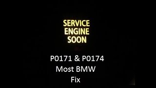 How to fix / find OBD code P0171 and P0174 on BMW