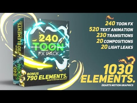 Toon FX Pack | After Effects template