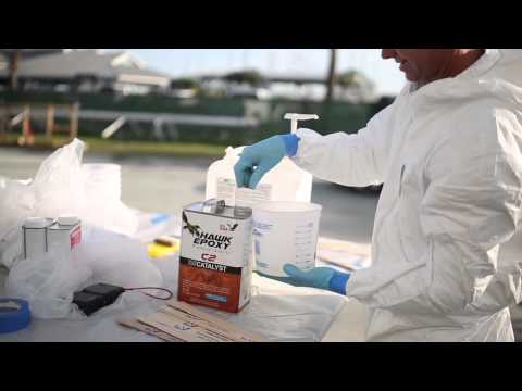 Sealing a Fiberglass Hull with Hawk Epoxy - Sea Hawk Paints' state-of-the-art epoxy system