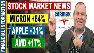 AMD, Apple, Micron, Tesla, Carmax | September Stock Market News  | Stocks Sept 18-22