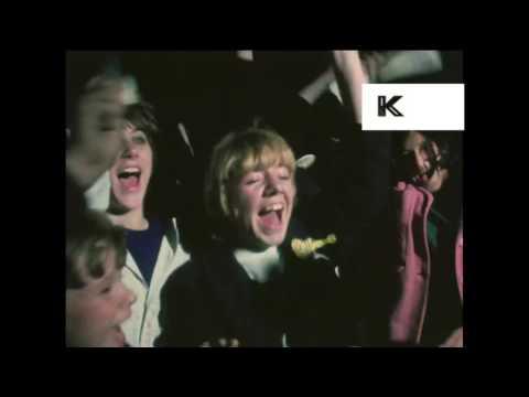 1960s The Monkees Arrive in London, Screaming Teenage Fans, Pop