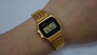 Обзор и настрока наручных часов Casio A-159WGEA-1E(Обзор и настрока наручных часов Casio A-159WGEA-1E, в видео будет показано как настроить модель A-159WGEA-1E так-же Вы..., 2015-04-27T11:59:51.000Z)